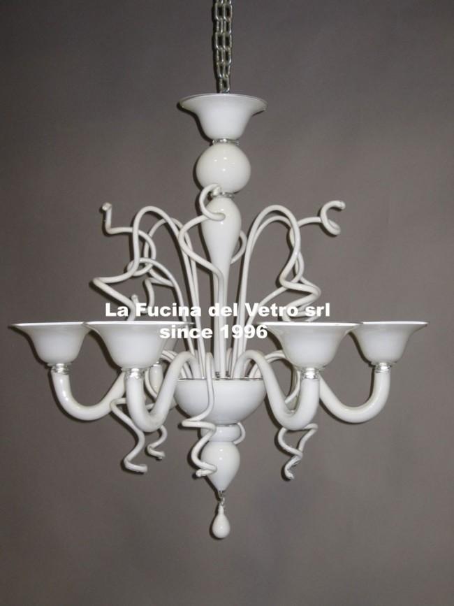 Vidaxl lampadario moderno vetro con paralume, unisce classico e moderno questo. Varigola Colorato Lampadario Moderno In Vetro Di Murano