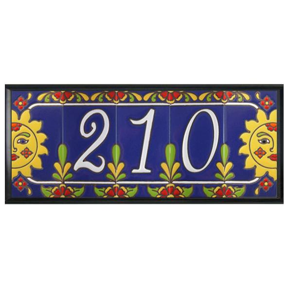 ceramic tile house numbers tile