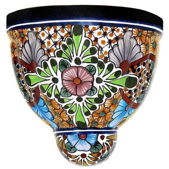 Metal Tile Ceramic Planter
