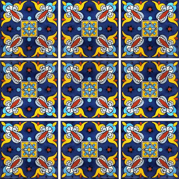 hand painted ceramic tile southwest