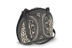 Pagi Large handmade handbag in BlackCream