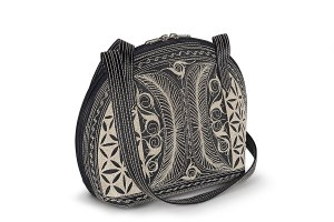 Pagi Large handmade handbag in BlackCream