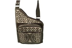 Pintar handmade cross body by Laga in black and cream