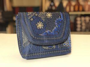 Mudah handmade bag dark blue/batik