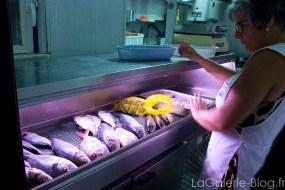 poissons du restaurant