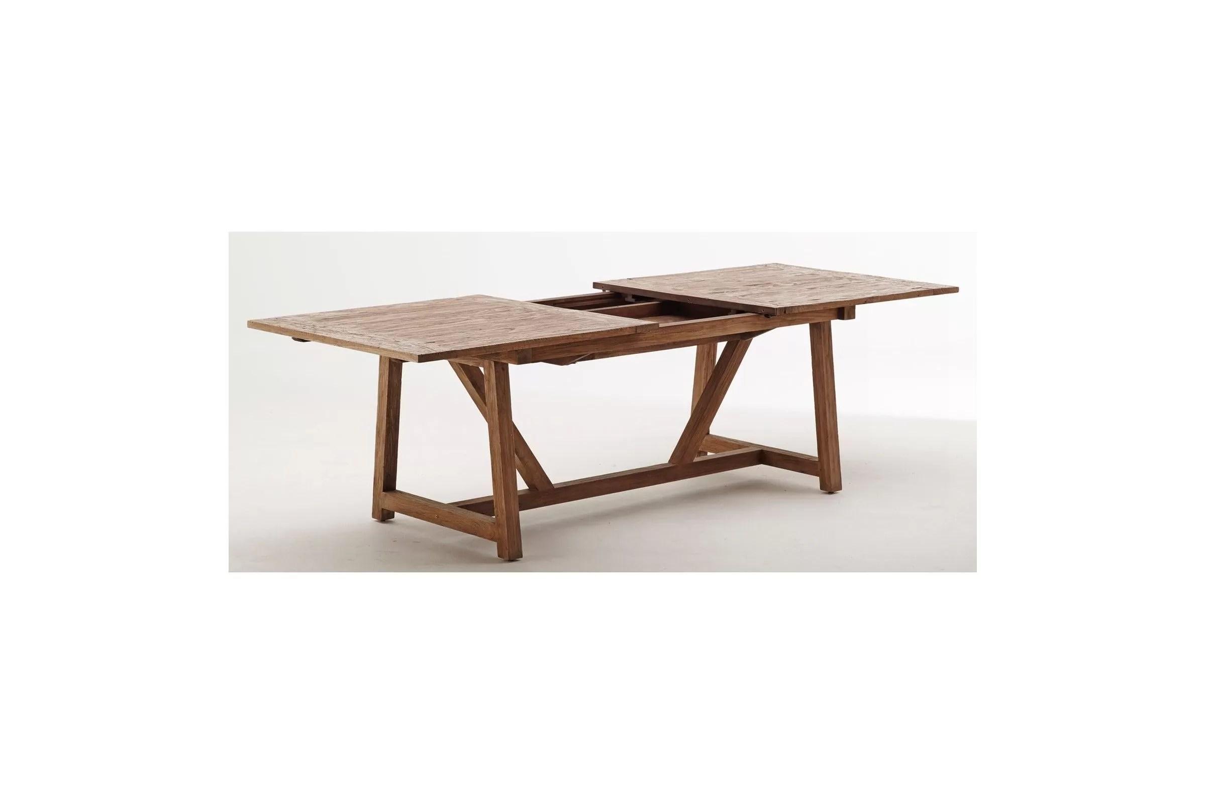 table en teck ancien avec 1 rallonge