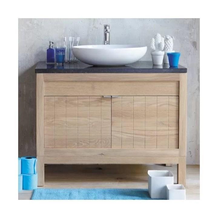 meuble sous vasque bois teck ou chene