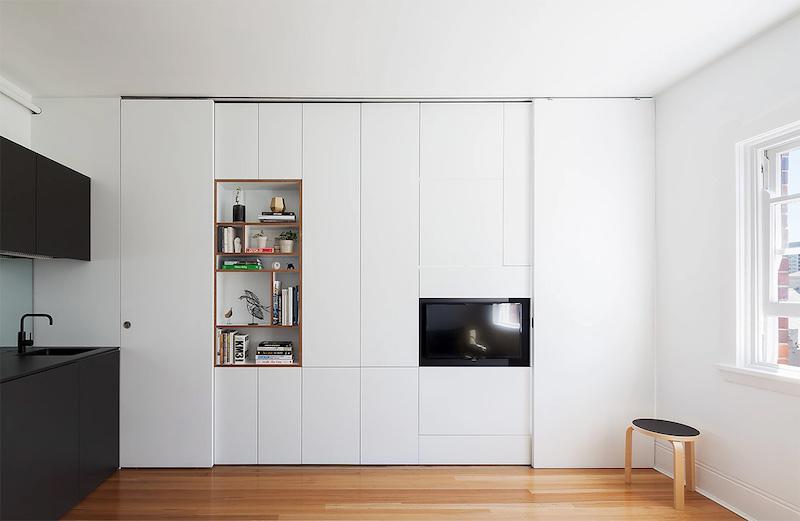 Dalle tramezze esistenti ed ottenere un vano unico dalla funzione mista. 2 Progetti Efficaci Per Appartamenti Sotto I 30 Mq La Gatta Sul Tetto