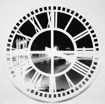 Vera Lutter, Clock Tower, Brooklyn, XX: June 3, 2009, 2008, unique silver-gelatin print, 138 x 139 cm