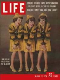 La couverture de Life avec les Mc Guire Sisters