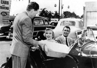 """Marilyn Monroe avec Cary Grant dans """"Chérie je me sens rajeunir"""" - 1952"""