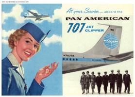 Publicité Pan Am - 1958