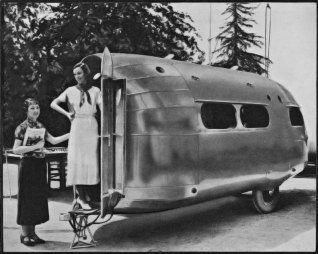 Une caravane Bowlus