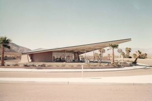 Station service de Palm Springs devenue aujourd'hui Office du tourisme
