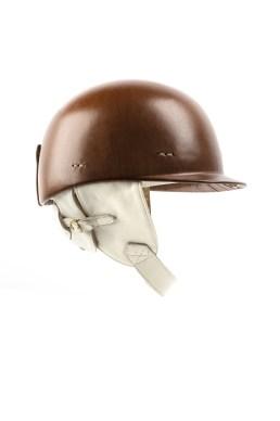 Casque 1950 - Gainé cuir brun - Chapal - 1700 €