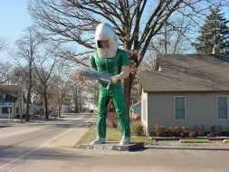 Le Gemini Giant à Wilmington, Will County, Illinois