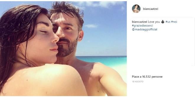 Bianca Atzei e la frecciatina a Max Biaggi su Instagram