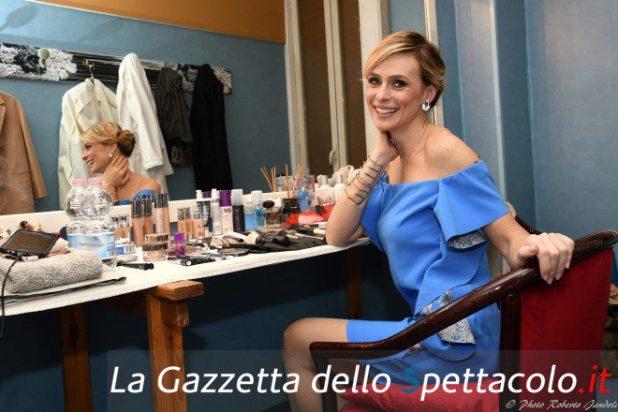 Serena Autieri in camerino. Foto di Roberto Jandoli.