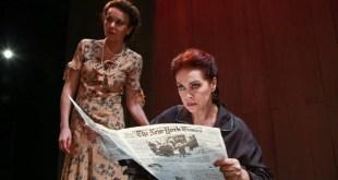 Elena Sofia Ricci in una scena di Vetri Rotti. Foto di Emma Quartullo