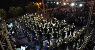 La banda musicale della GdF a Ciorlano. Foto di Federico D'Alessandri