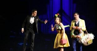 Sinfonie in Sal maggiore, Sal Da Vinci in scena con Floriana De Martino e Ciro Villano. Foto di Raffaele Bifulco