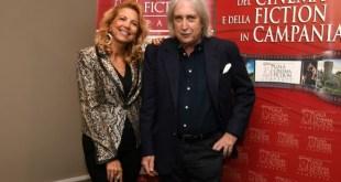 Valeria della Rocca con Enrico Vanzina, fratello di Carlo Vanzina