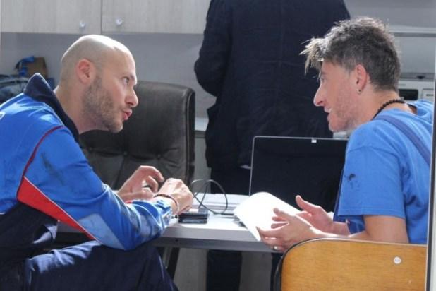 Fabio Massa ed Emiliano De Martino sul set di Mai per Sempre. Foto da Facebook