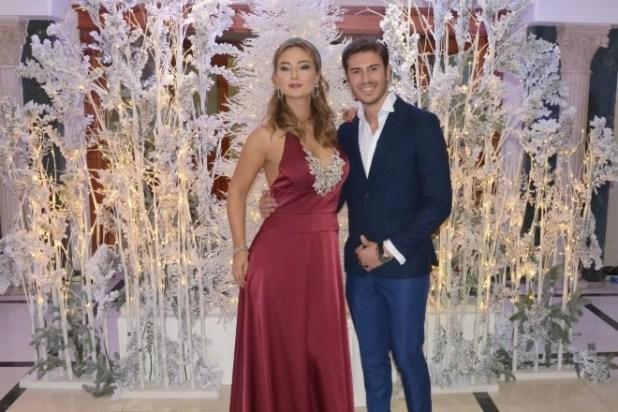 I presentatori del Fashion Gold Christmas Roberta Scardola e Nicola Coletta. Foto di Maurek Poggiante