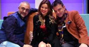 Paolo Caiazzo, Yuliya Mayarchuk e Ciro Ceruti in Non mi dire te l'ho detto. Foto di Roberto Jandoli