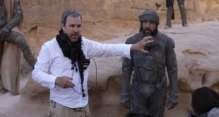 Una scena dal set di Dune diretto da Denis Villeneuve con Javier Bardem. Foto di Chiabella James