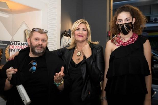 Pietro Paradiso, Maria Ortensia Dentice di Frasso e Marina Corazziari. Foto di Lidia Piccaglia