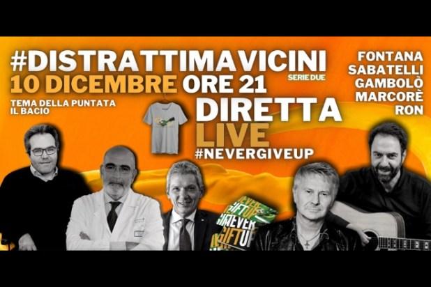 Ron e Neri Marcorè in diretta contro la SLA