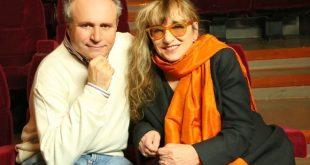 Pierfrancesco Campanella e Piera Degli Esposti nel backstage di I Love... Marco Ferrei. Foto da ufficio stampa