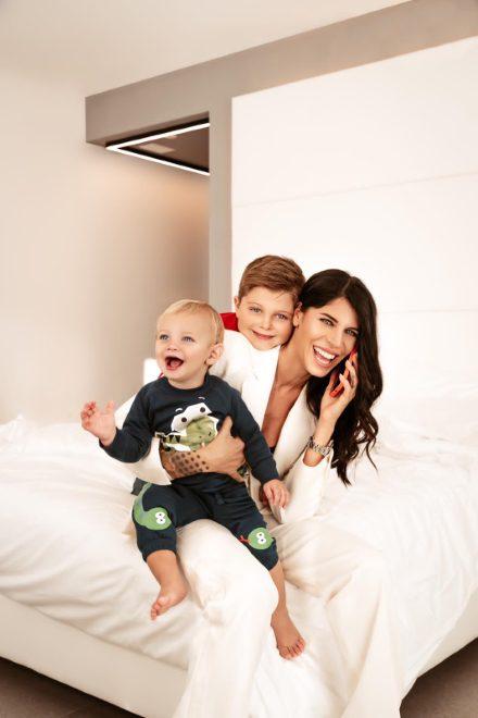 Alice Basso con la famiglia