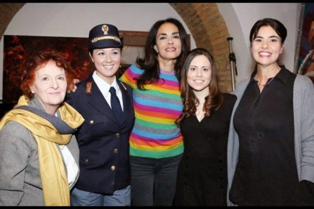 Il cast di Sacrificio Disumano, Hotto, Candelise, Cucinotta, Chiara, Campanella e Nunzi