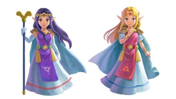 Zelda and Hilda look Zelda A Link Between Worlds