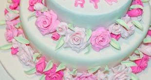 Gâteau décoré de roses bloganniversaire deux ans La Geek En Rose lageekenrose