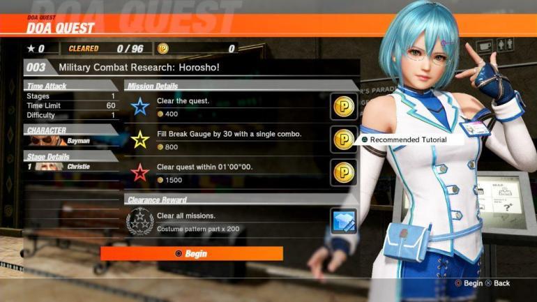 Dead Or Alive 6 DOA Quest jeu de combat baston vs fighting Koch Media Koei Tecmo Ninja Team PS4 Xbox One Steam