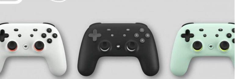 Google Stadia Connect Conference gaming controller manette