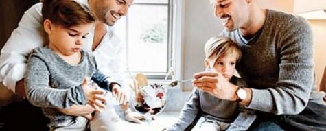 Corte Ricky Martin e hijos