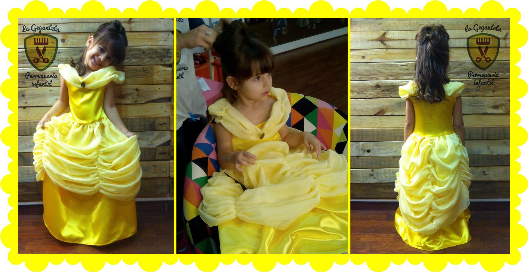 disfraz bella peluqueria infantil la geganteta