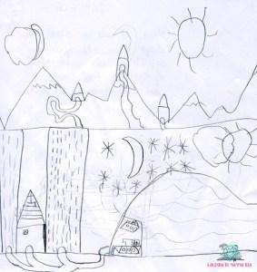 come interpretare i disegni dei bambini in bianco e nero secondo L'Agenda di mamma Bea