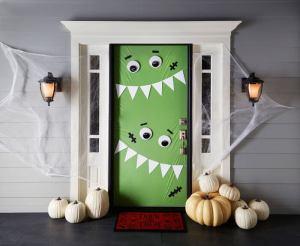 decorare una porta per Halloween con L'Agenda di mamma Bea