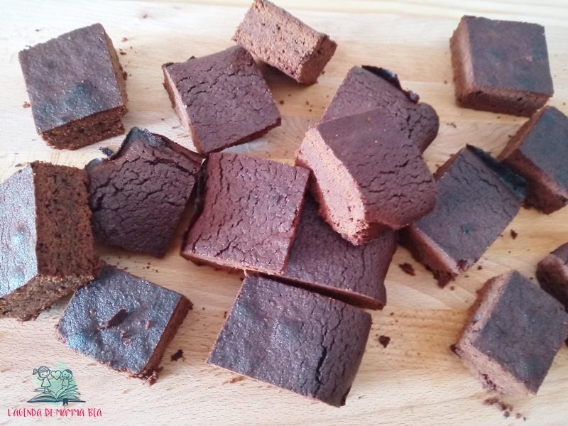 brownies per la festa in giardino de L'agenda di mamma Bea
