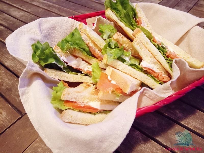i sandwich per la festa in giardino de L'agenda di mamma Bea