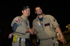 Jack Dupuy receives a coin as Franchise Manager from Co-Founder Savann Mok at Relay 2012.