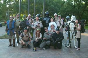 The Dream Night Crew represented by the Dagobah Base Rebel Legion chapter and the Bast Alpha Garrison 501st Legion chapter...OH, and the Louisiana Ghostbusters!
