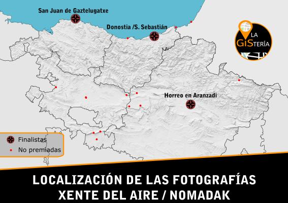 Localización de las fotografías, Pais Vasco y Navarra