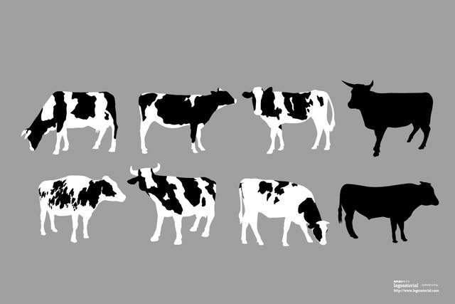 牛のベクター素材