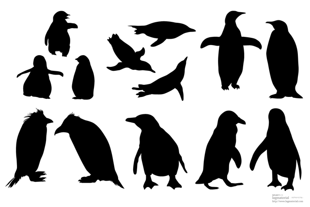 penguinのシルエットベクター素材【ダウンロードはコチラ】